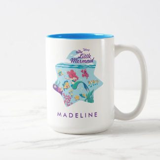 The Little Mermaid & Friends Two-Tone Coffee Mug