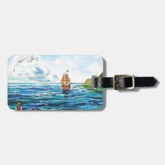 The little Mermaid seascape painting Bag Tag