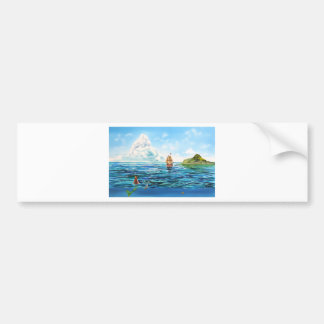 The little Mermaid seascape painting Bumper Sticker