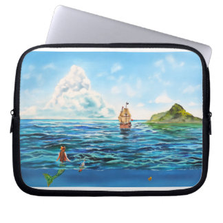 The little Mermaid seascape painting Computer Sleeve