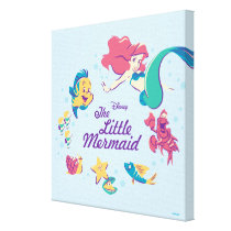 The Little Mermaid & the Sea Canvas Print