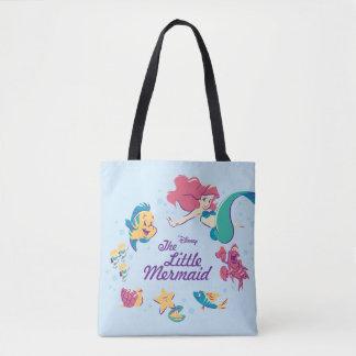 The Little Mermaid & the Sea Tote Bag