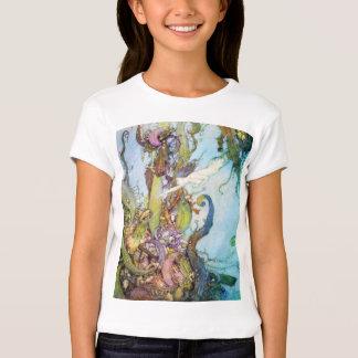 The Little Mermaid vintage art girls t-shirt