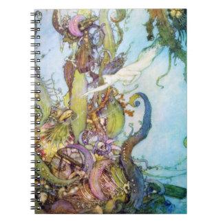 The Little Mermaid vintage art notebook
