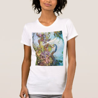 The Little Mermaid vintage art womens T-shirt