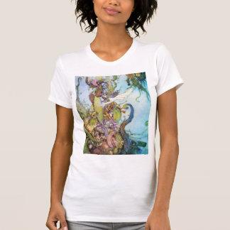 The Little Mermaid vintage art womens T-shirt