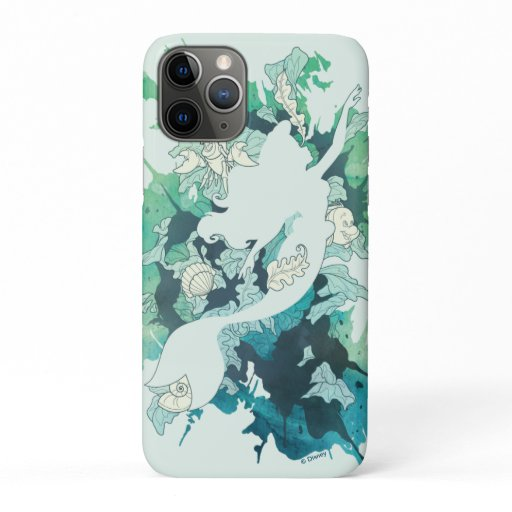 The Little Mermaid Watercolor Silhouette iPhone 11 Pro Case