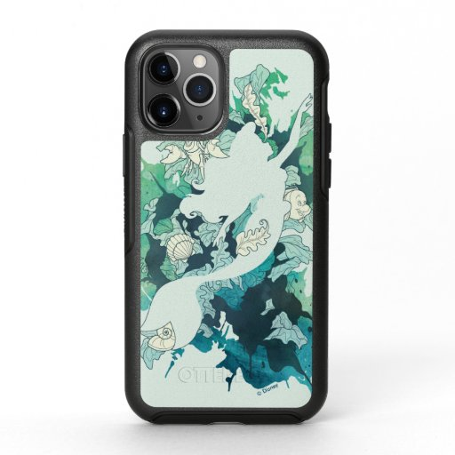 The Little Mermaid Watercolor Silhouette OtterBox Symmetry iPhone 11 Pro Case