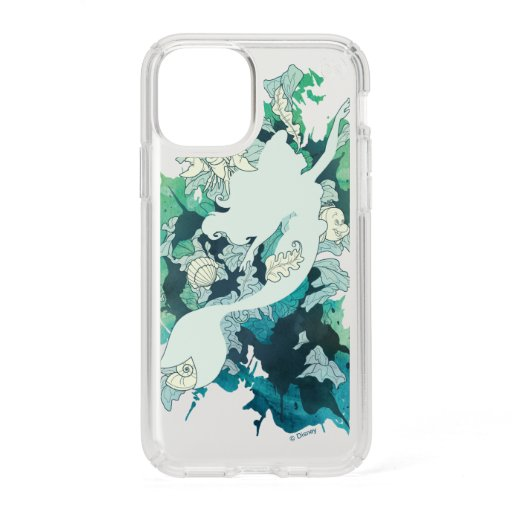 The Little Mermaid Watercolor Silhouette Speck iPhone 11 Pro Case