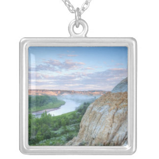 The Little Missouri River at the Little Silver Plated Necklace