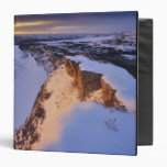 The Little Missouri River in winter in Vinyl Binders