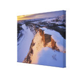 The Little Missouri River in winter in Canvas Prints