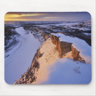 The Little Missouri River in winter in Mouse Pad