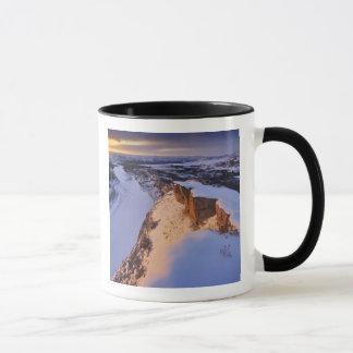 The Little Missouri River in winter in Mug