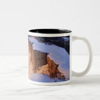 The Little Missouri River in winter in Two-Tone Coffee Mug