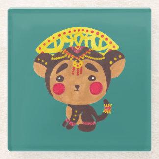The Little Monkey King Glass Coaster