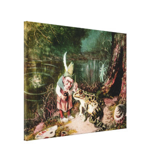 The Little Old Man of the Woods Mural Vintage Canvas Print