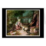 The Little Old Man of the Woods Mural Vintage Greeting Card
