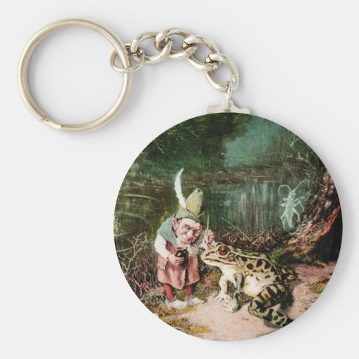 The Little Old Man of the Woods Mural Vintage Keychain