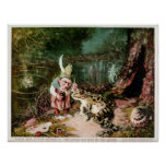 The Little Old Man of the Woods Mural Vintage Print