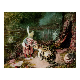 The Little Old Man of the Woods Mural Vintage Poster