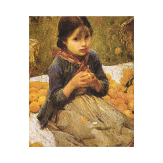 The Little Orange Gatherer Canvas Print