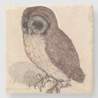 The Little Owl by Albrecht Dürer Square Stone Beverage Coaster