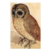 The Little Owl by Albrecht Durer Stationery