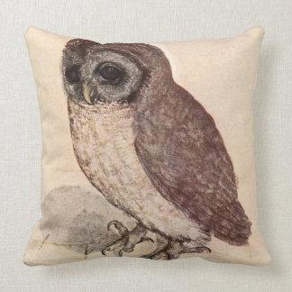 'The Little Owl' by Albrecht Dürer Throw Pillow