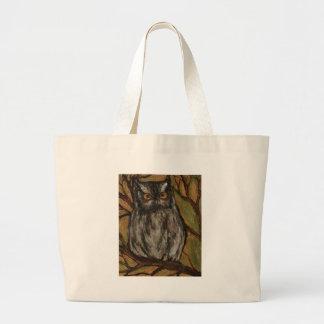 The Little owl- Original art by artist Lian Zol Canvas Bag
