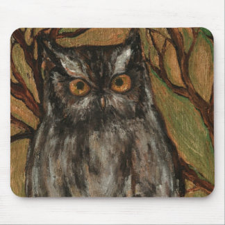 The Little owl- Original art by artist Lian Zol Mouse Pad