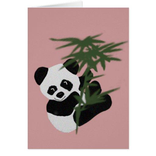 The Little Panda Greeting Card
