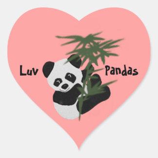 The Little Panda Heart Sticker