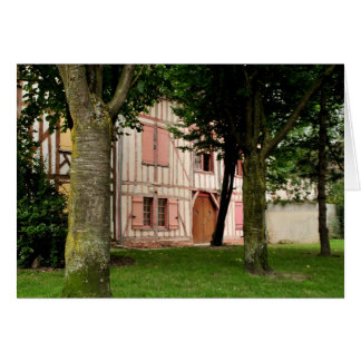 The Little Pink House Troyes France Greeting Card