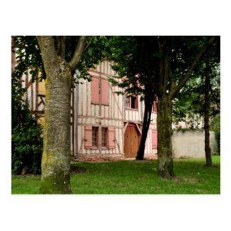 The Little Pink House Troyes France Postcard