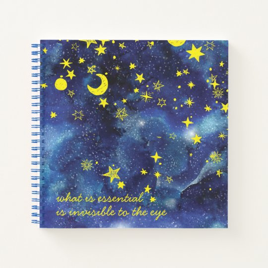 The Little Prince Quote and Stars Notebook