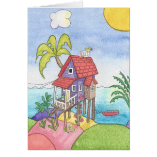 The Little Purple House Greeting Card