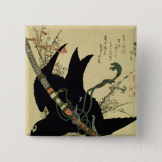 The Little Raven with the Minamoto clan sword Button