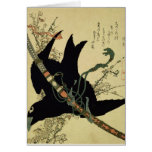 The Little Raven with the Minamoto clan sword Cards