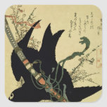 The Little Raven with the Minamoto clan sword Sticker