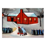 (The little red house Business Card)