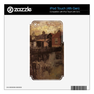 The Little Red House by James McNeill Whistler iPod Touch 4G Decal