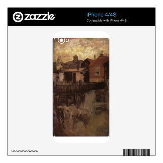 The Little Red House by James McNeill Whistler Skin For iPhone 4S