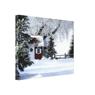 The Little Red Shed Canvas Canvas Print
