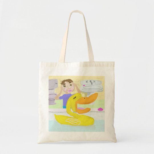 The Little Rubber Ducky Sings Opera In The Bathtub Tote Bag
