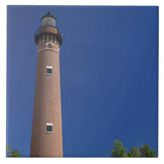 The Little Sable Point Light on Lake Michigan Tiles