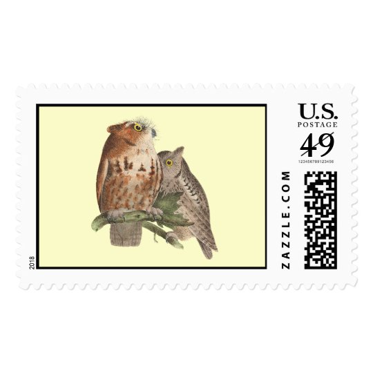 The Little Screech Owl	(Bubo asio) Postage