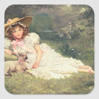 The Little Shepherdess Square Sticker