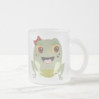 The Little Star Frosted Glass Frog Character Mug