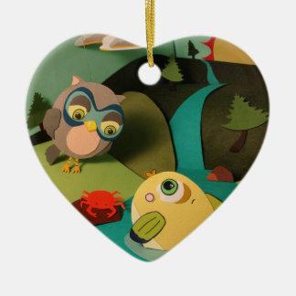 The Little Star Heart Mr. Fish Ornament